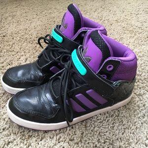 Black & Purple Adidas